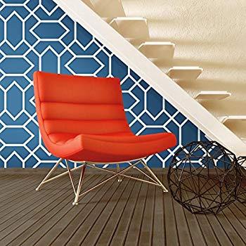 Roommates Blue Modern Geometric Peel And Stick Wallpaper Amazon Com Home Decor Bedroom Peel And Stick Wallpaper Home Decor