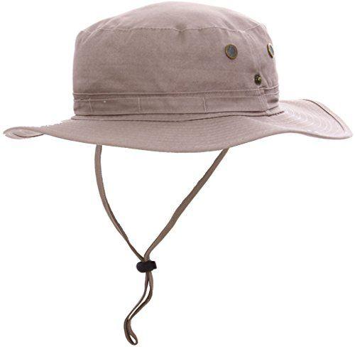 Simplicity Men   Women 100% Cotton UV Ray Protection Safari Sun Hat ... de306980185