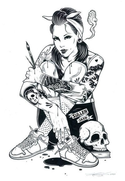 Punk Rock girl Occult Witch