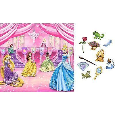 Disney PRINCESS CINDERELLA Scene Setter HAPPY BIRTHDAY party wall BACKDROP