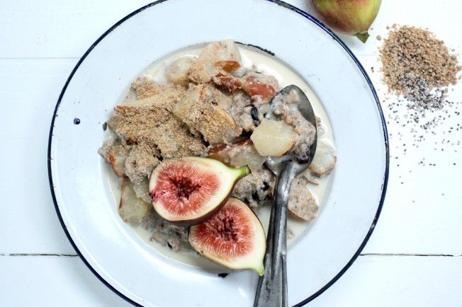 Chia porridge with Pear Cinnamon + vanilla <3