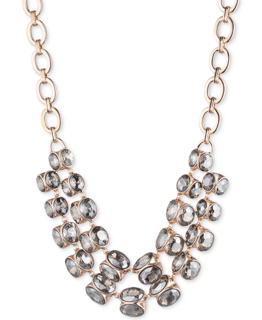 f1b2d51d6b93 Anne Klein Rose Gold-Tone Crystal Collar Necklace