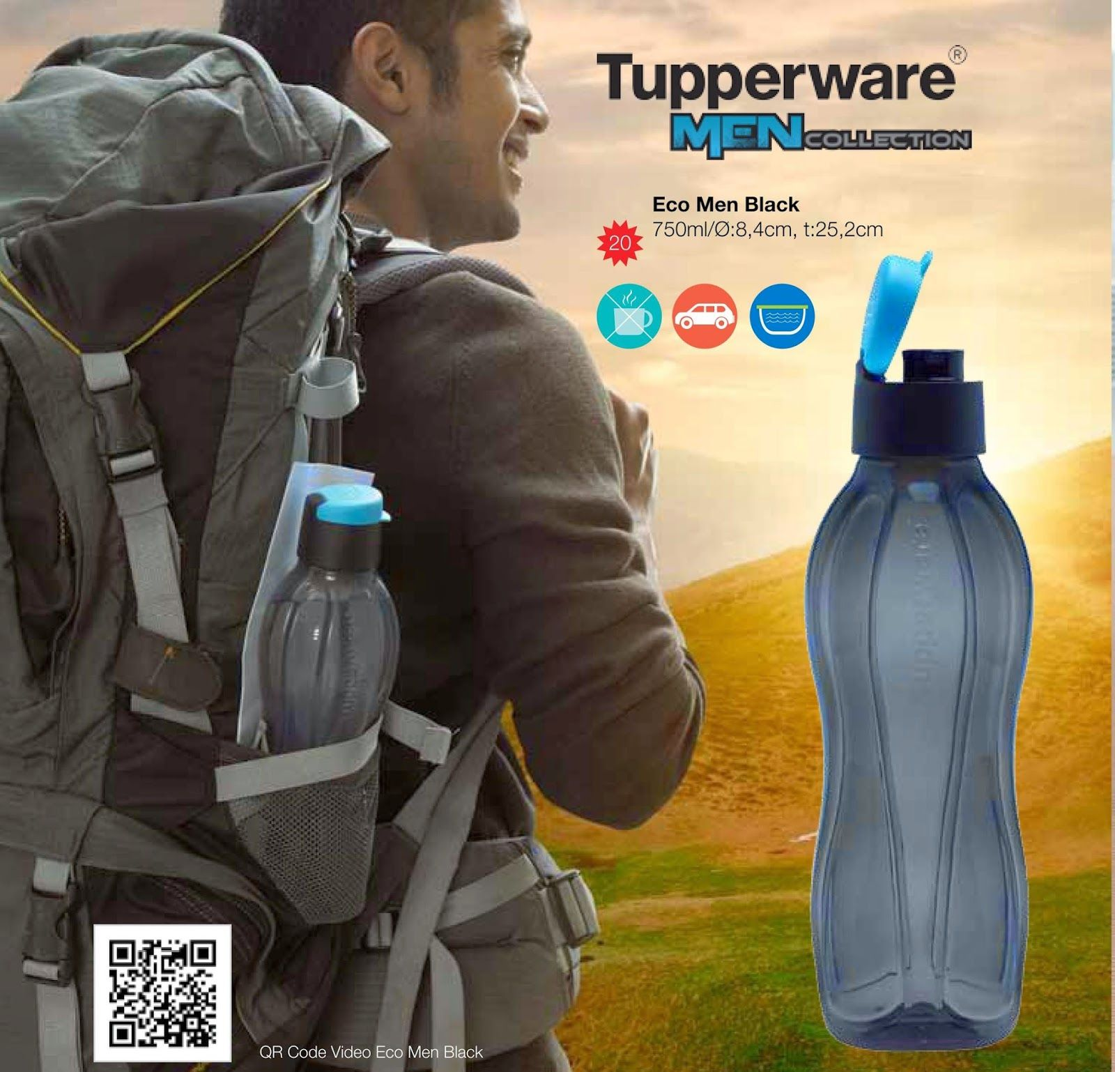 Perlengkapan Makan Tupperware Botol Minum Laki Paket Murah Aluminium 750ml Lovers Men Outdoor