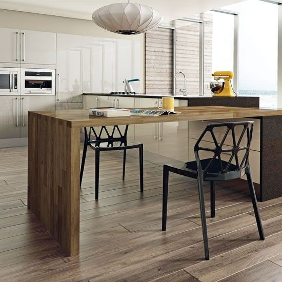 Modern Kitchen Table And Kitchen Design Ideas For Log Homes ...