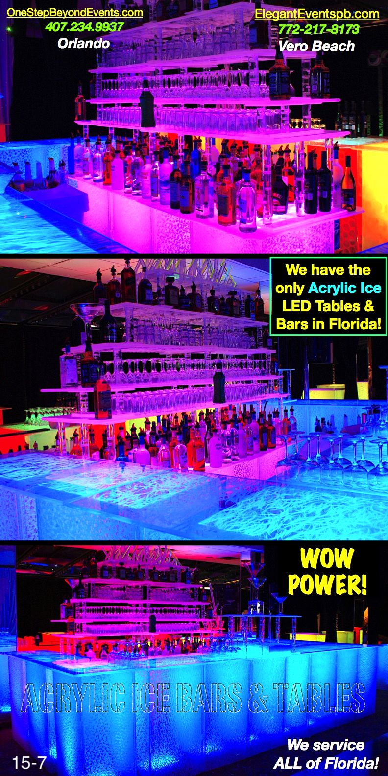 Led tables are affordable lowest prices acrylic ice led