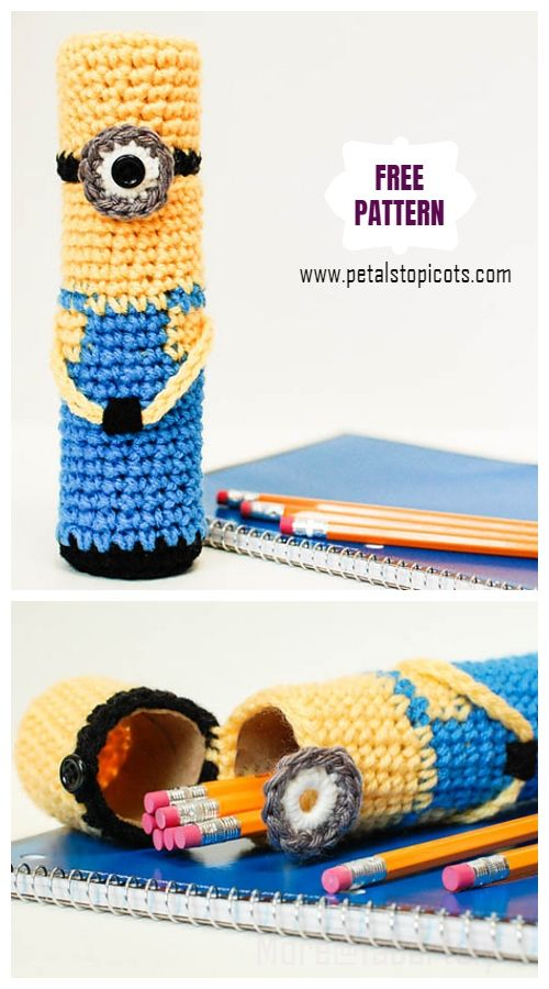 DIY Crochet Minion Gifts Free Crochet Patterns Kids #minioncrochetpatterns