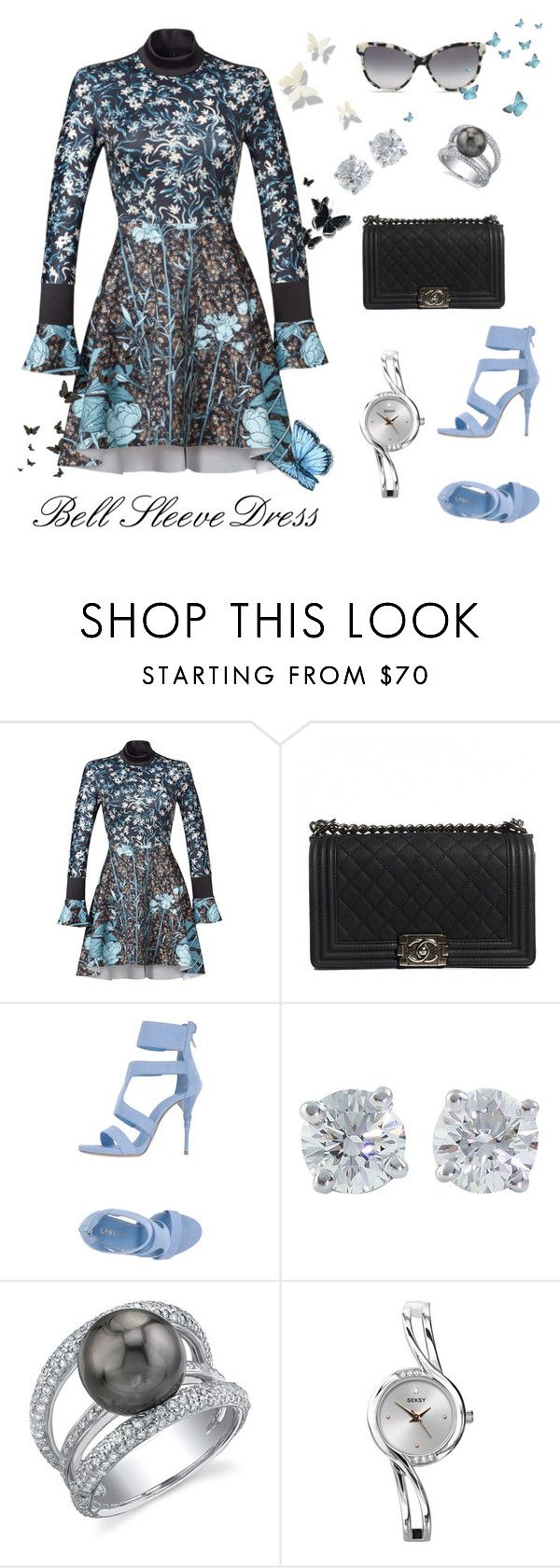 """She Feels like a Garden ..."" by krusie ❤ liked on Polyvore featuring Clover Canyon, Chanel, Le Silla, Tiffany & Co., STELLA McCARTNEY and Disney"