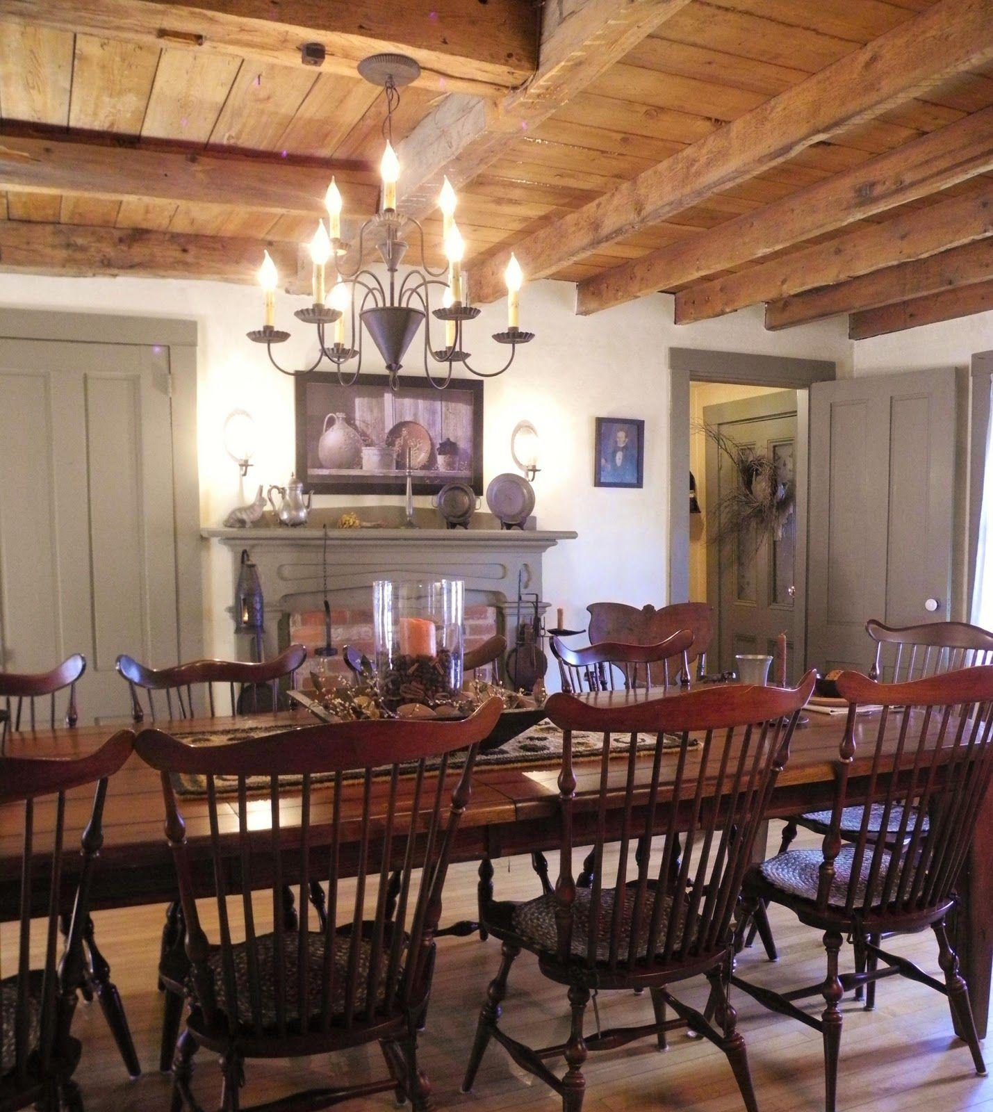 primitive dining room sets   Primitive dining room   Dining Rooms   Pinterest
