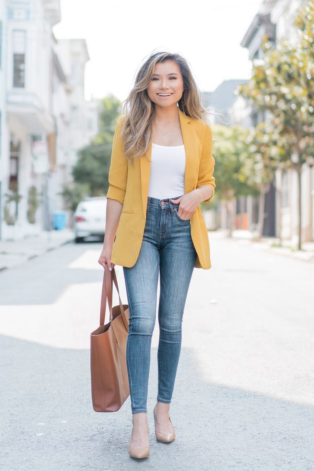 23 Inspiring Women Spring Jeans Outfit Ideas For Work  Smart