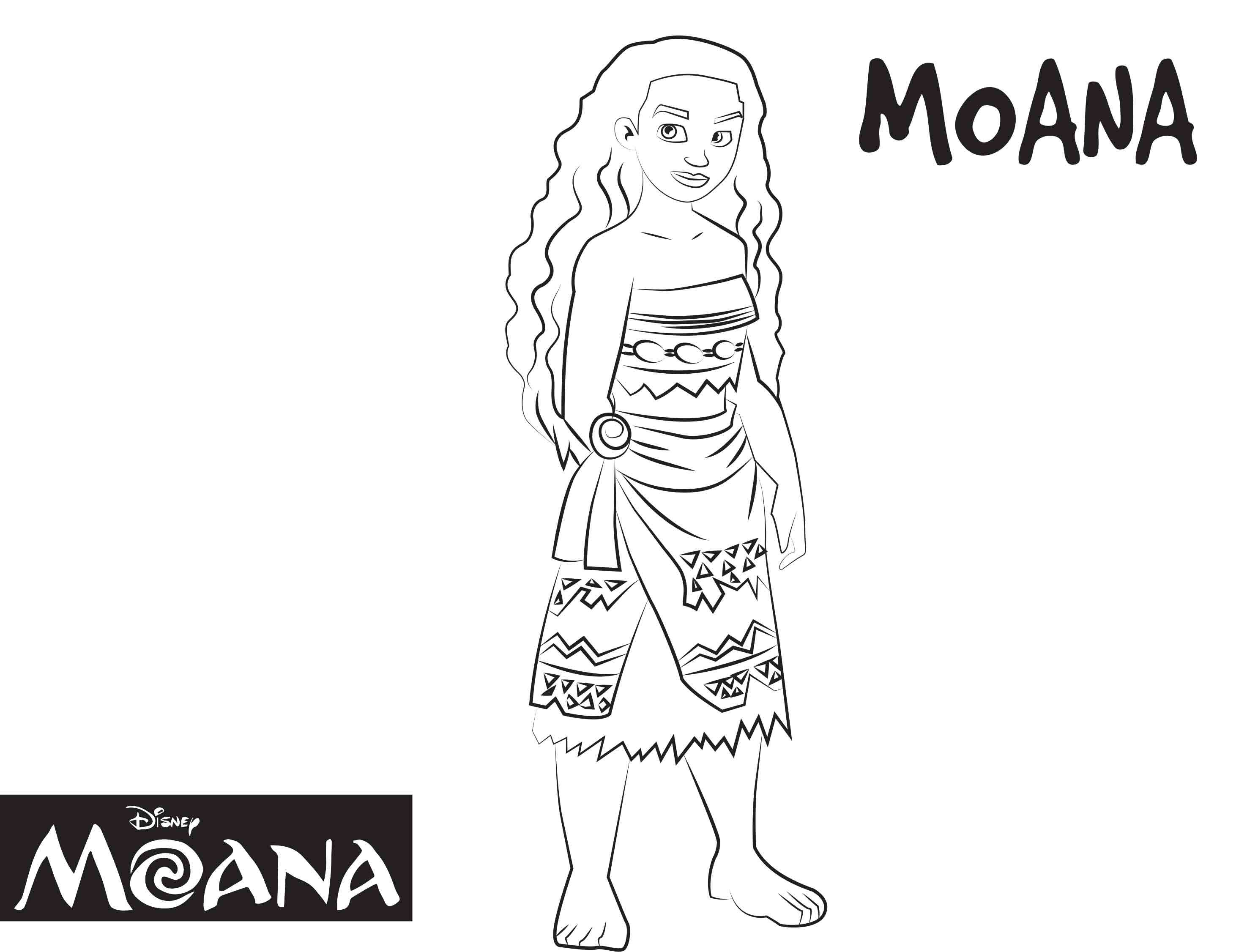 Disney\'s Moana Coloring Pages Sheet, Free Disney Printable Moana ...