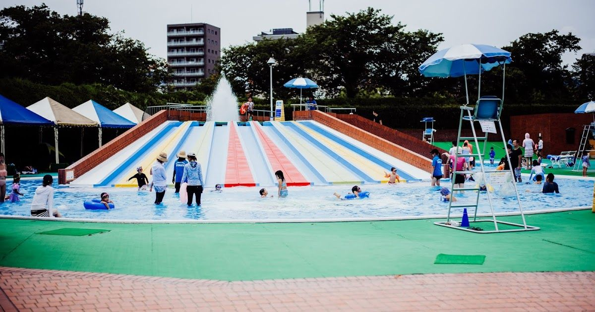 Central Park Family Pool Hiroshima In 2020 Family Pool Central Park Indoor Play Areas