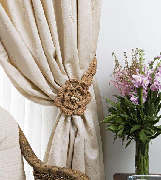 sujetadores de cortinas en crochet con patrones - Buscar con ...