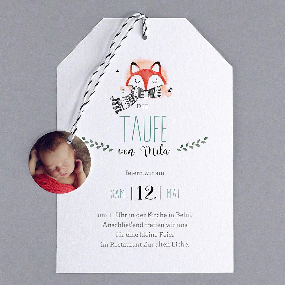 Taufe Fuchs Taufe Einladung Basteln Einladungen Selber Machen Einladung Taufe