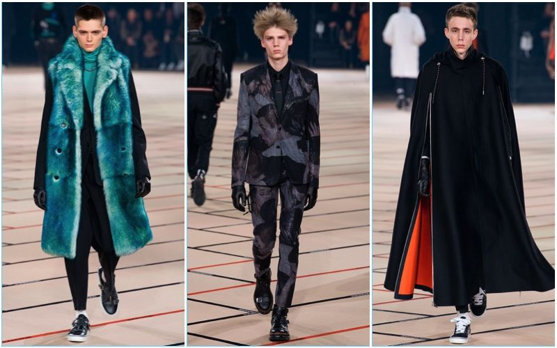 Dior Homme presents its fall-winter 2017 collection during Paris Fashion Week.