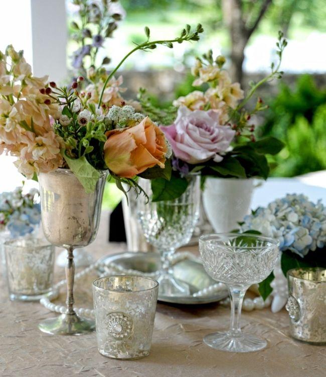 vintage deko ideen biedermeier kristall tassen rosen spring decoration pinterest blumen. Black Bedroom Furniture Sets. Home Design Ideas