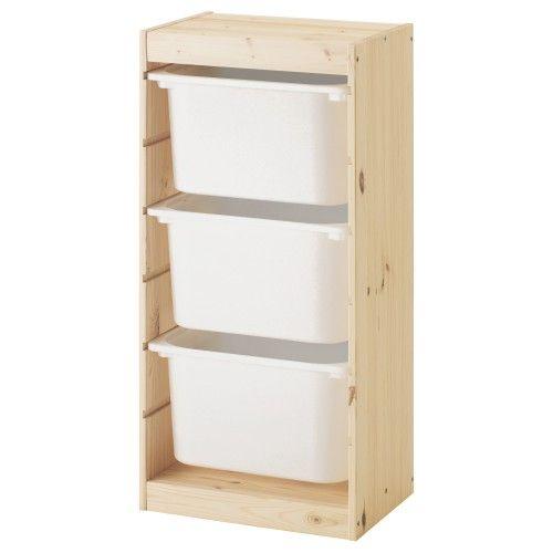 יחידת אחסון עם קופסאות TROFAST   Rangement, Stockage ikea, Rangement bas