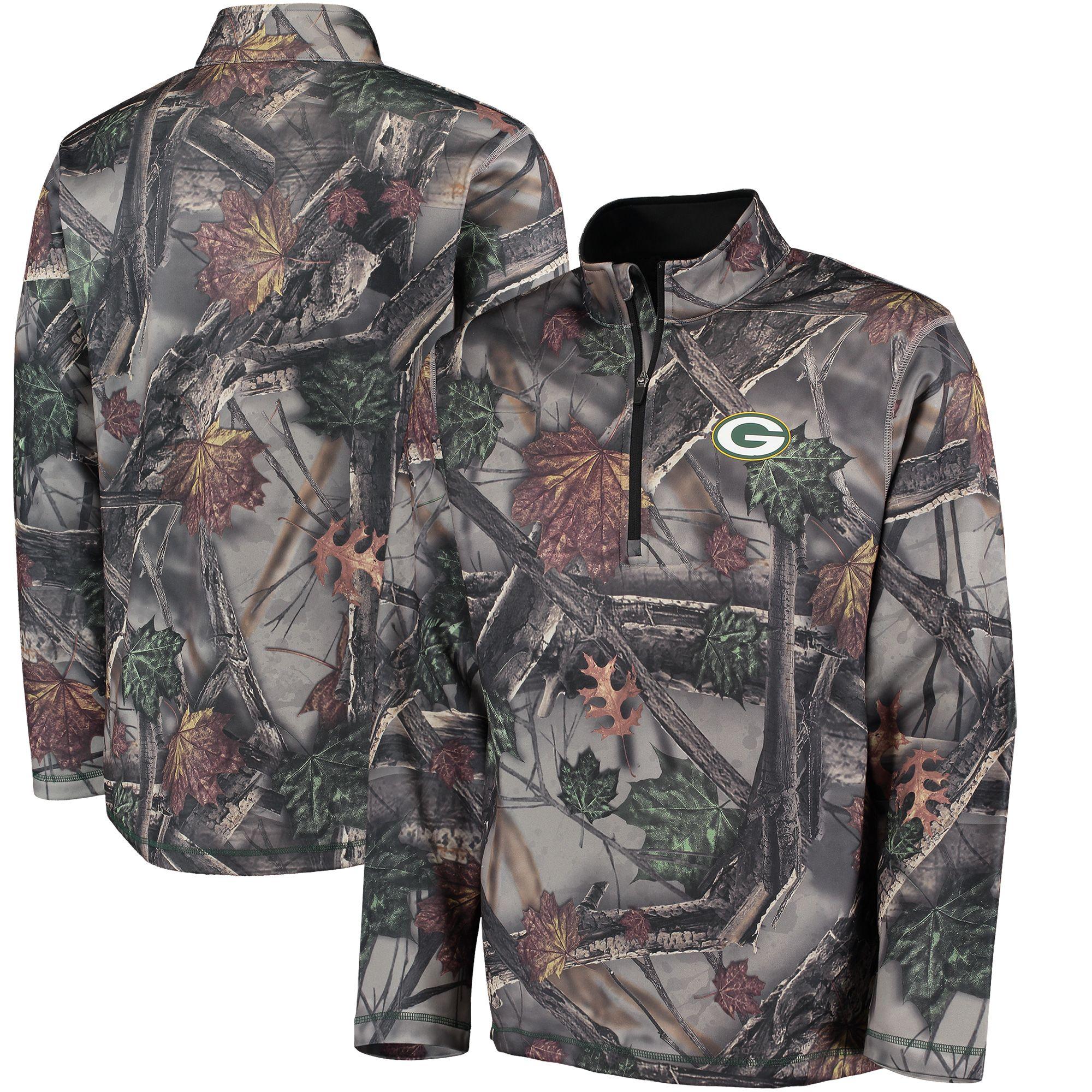 brand new 86df5 57cd3 NFL Green Bay Packers Majestic The Woods Half Zip Jacket ...
