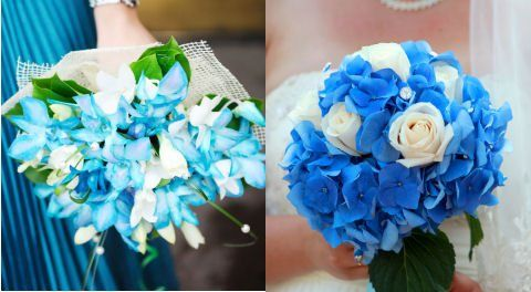 A Blue Themed Wedding How To Include The Colour Blue In Your Big