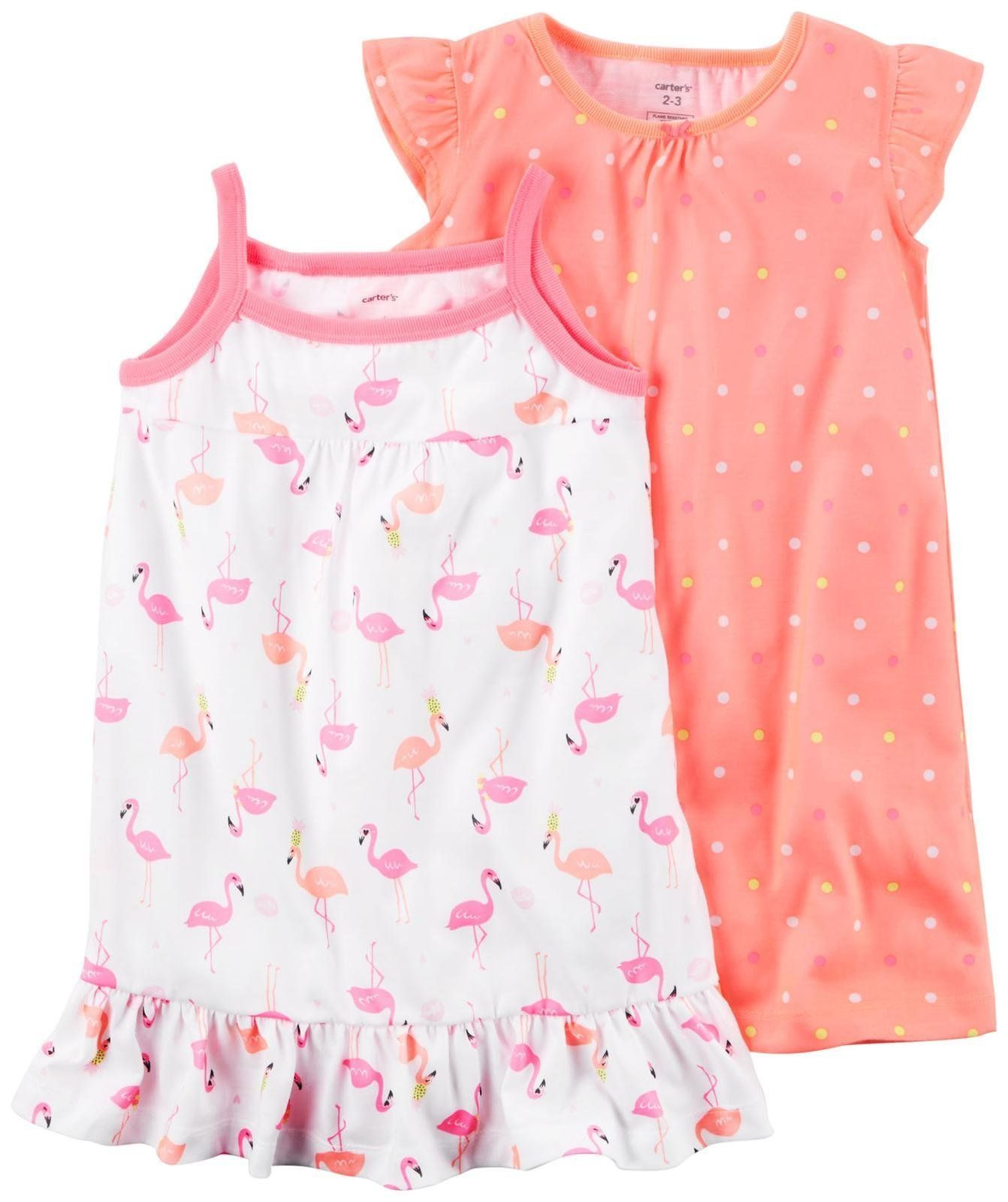 8b612fa827 Carters Girls 2 Pk Gown Poly 373g081 Print 45   Find out more about the  great product at the image link.(It is Amazon affiliate link)   GirlsClothingIdeas