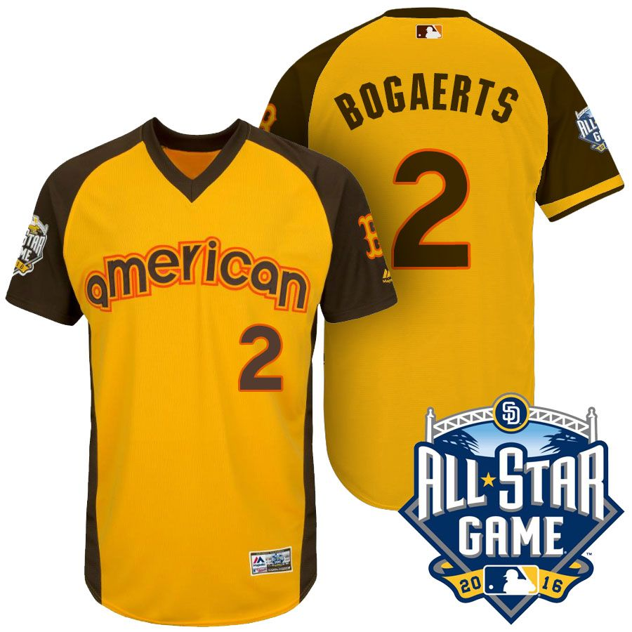 Xander Bogaerts #2 American 2016 MLB All-Star Game Home Run Derby Shortstop Cool Base Jersey