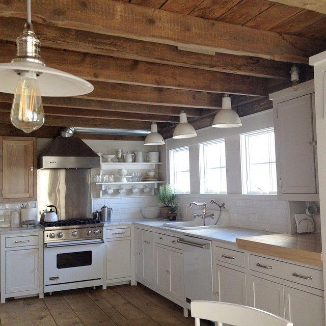 White flower farmhouse kitchen pinterest kitchens beams and house white flower farmhouse mightylinksfo