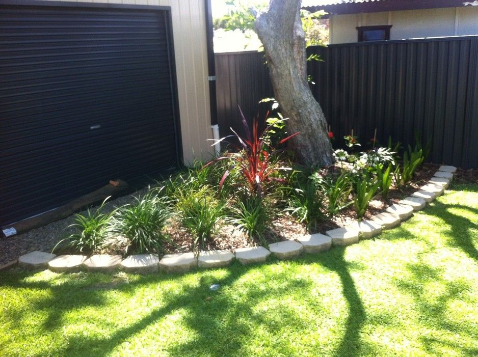 Corner Garden Design garden design - corner garden around existing jacaranda tree