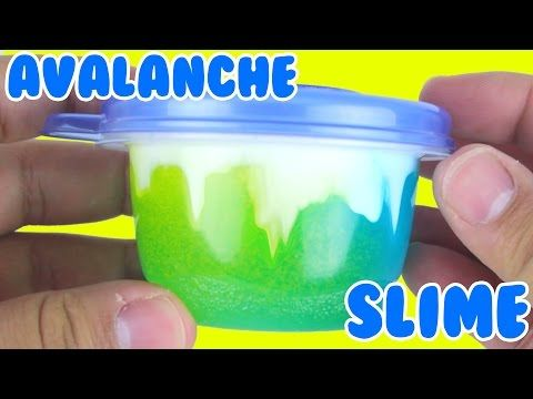 Diy Avalanche Slime How To Make Slime Slime Poking Asmr