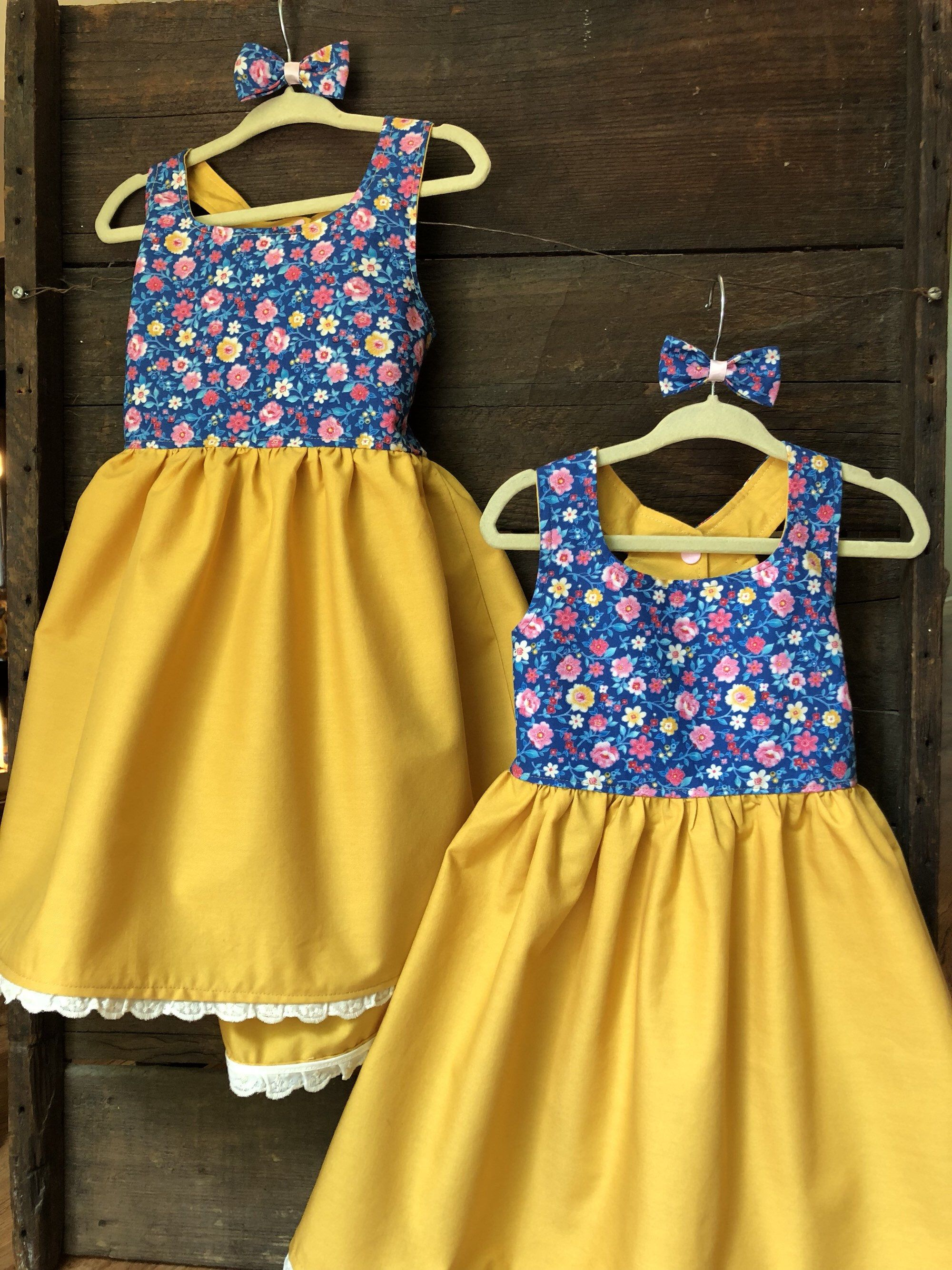 Floral dress 2t yellow blue floral dress toddler girl
