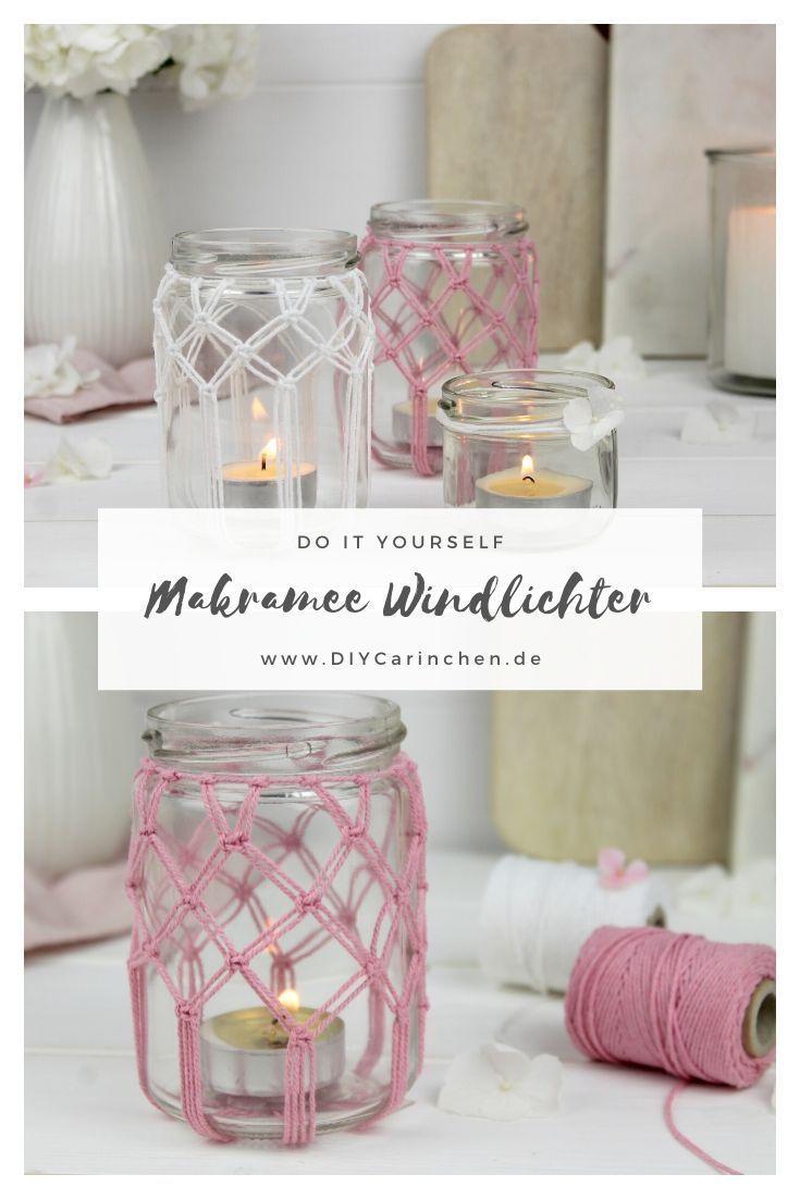 Photo of DIY – Makramee Kreuzknoten Windlichter einfach selber machen