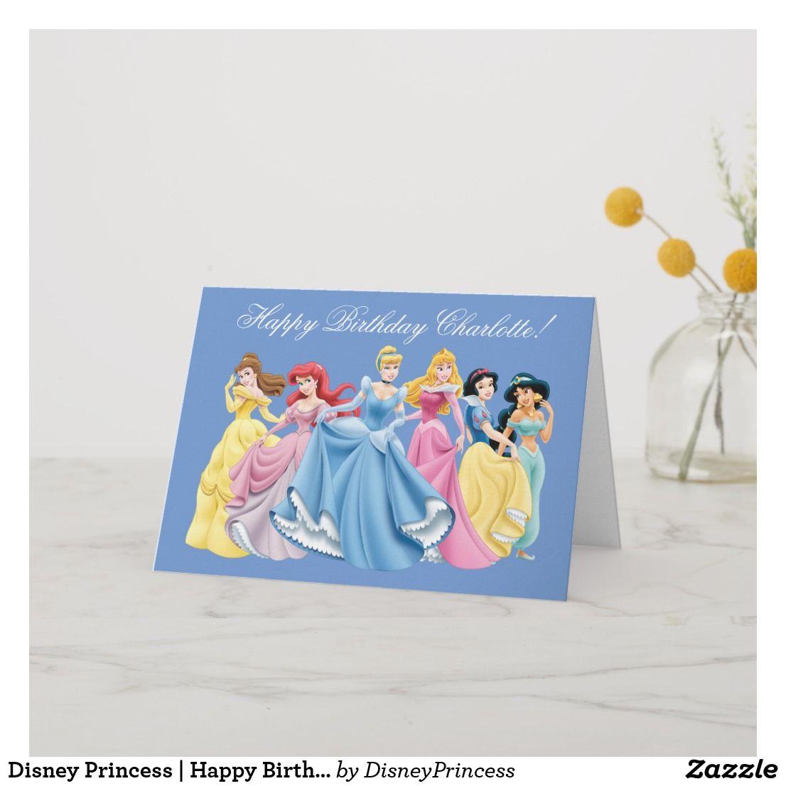Disney Princess Happy Birthday Card
