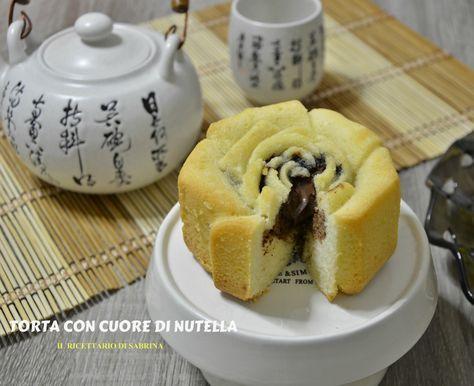 Una golosa torta con cuore di nutella, perfetta per la colazione o una merenda sana e nutriente. Per i veri amanti della crema alle nocciole