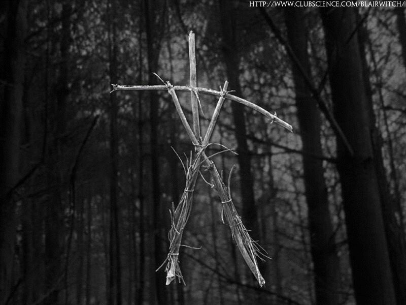 The Blair Witch Since The Blair Witch Is Not A Physical Presence In The Film I Have Substituted The Stick Figures Blair Witch Project Blair Witch Witch Stick
