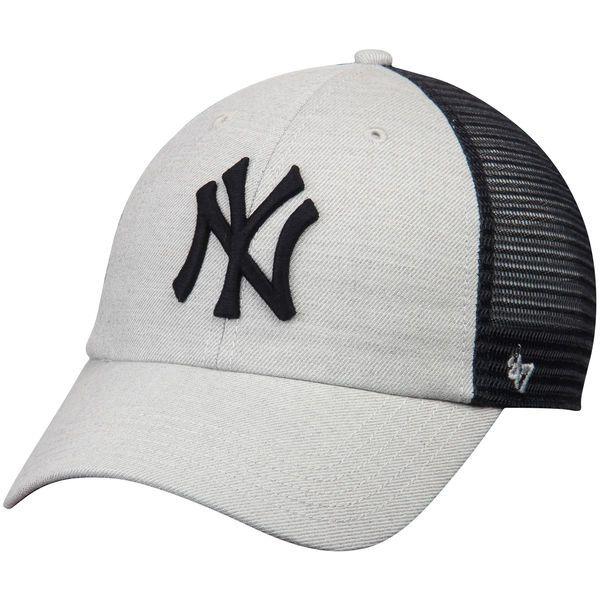 0c5aa9ae93d Men s New York Yankees  47 Gray Navy Tamarac Clean Up Snapback Adjustable  Hat