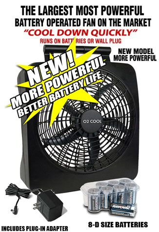 Battery Operated Fan Powered By Batteries Or Ac Power Battery Operated Fan Powerful Fan