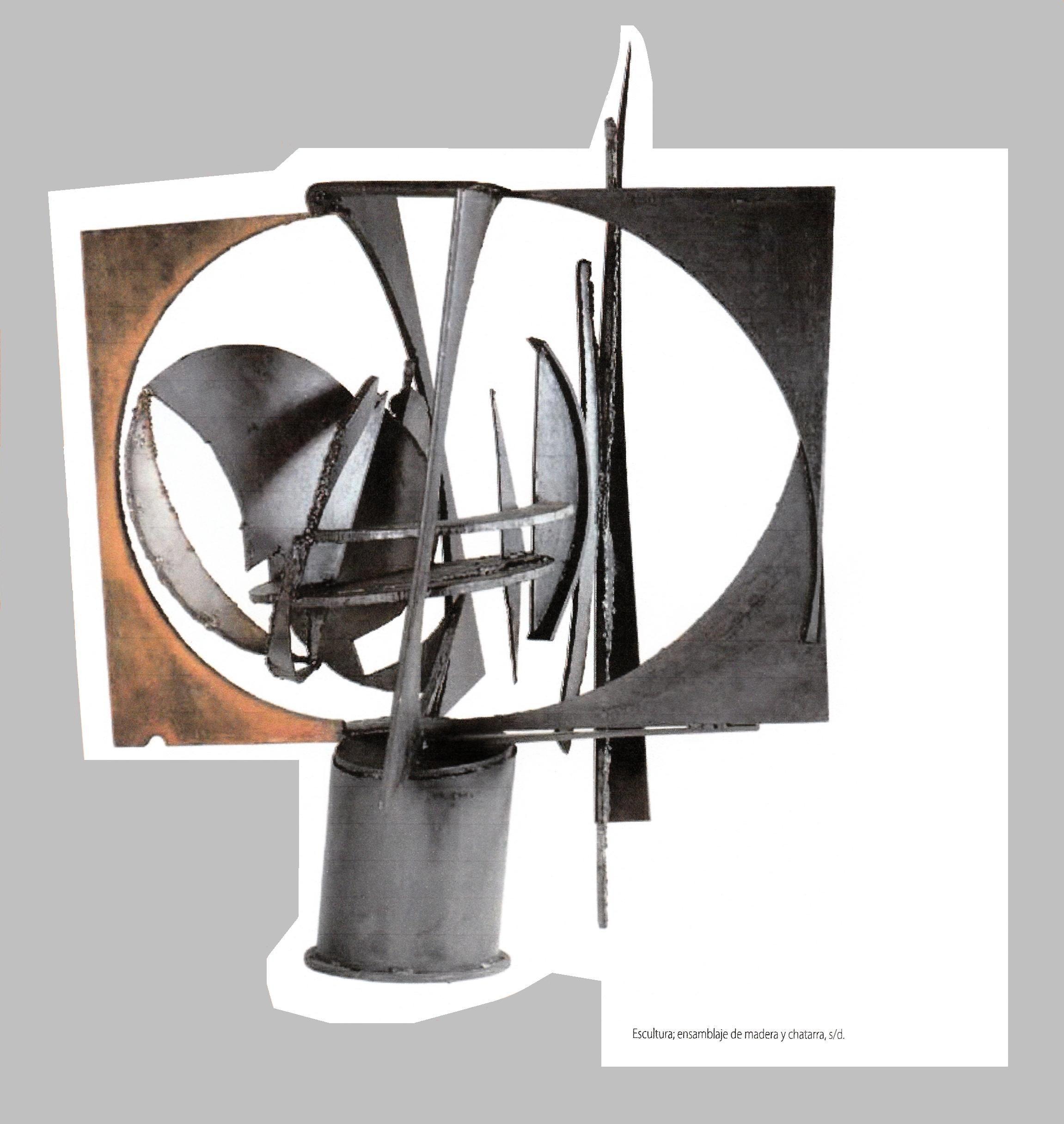 Escultura Chatarra Y Madera Autor Octavi Podest Montevideo  # Muebles Podesta