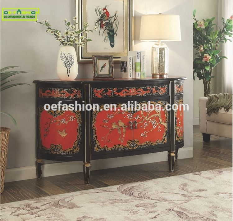 OE FASHION Furniture Luxury French Console Table With Storage Drawers In  Living Room, View