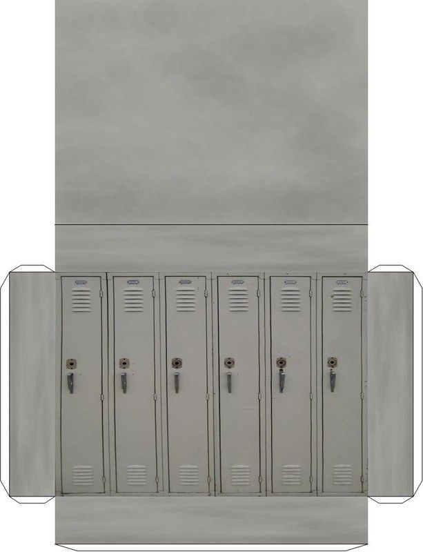 set of metal grey lockers g pinterest modellbau 3d papier s vorlagen. Black Bedroom Furniture Sets. Home Design Ideas