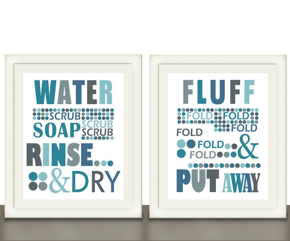 Laundry Room Word Art Laundry Room Art Typography Print Word Art Size 8X10  For The