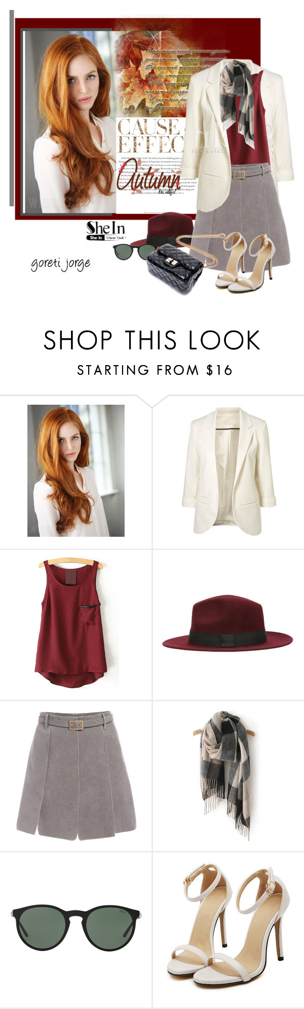"""Blazer shein"" by goreti ❤ liked on Polyvore featuring Envi and Polo Ralph Lauren"