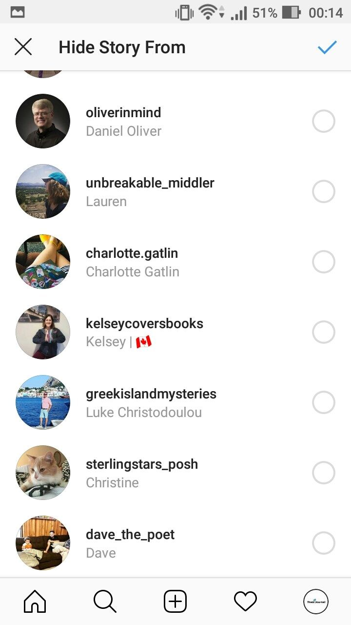 How to hide instagram story from specific users