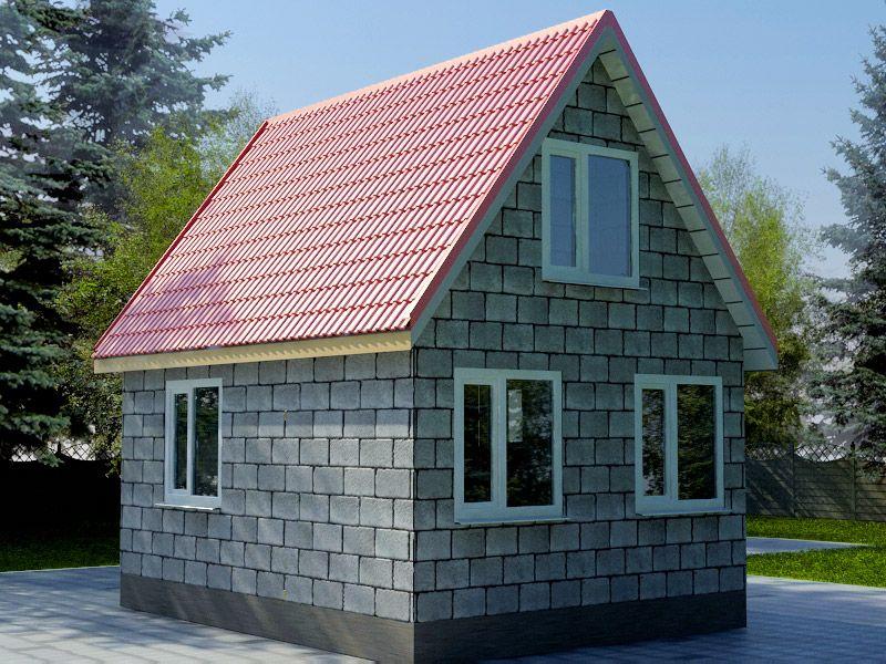 дом из шлакоблоков цена