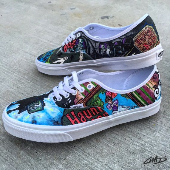 7dd50cc208 Disney s Huanted Mansion themed hand painetd Vans by ArtOfTheSole ...