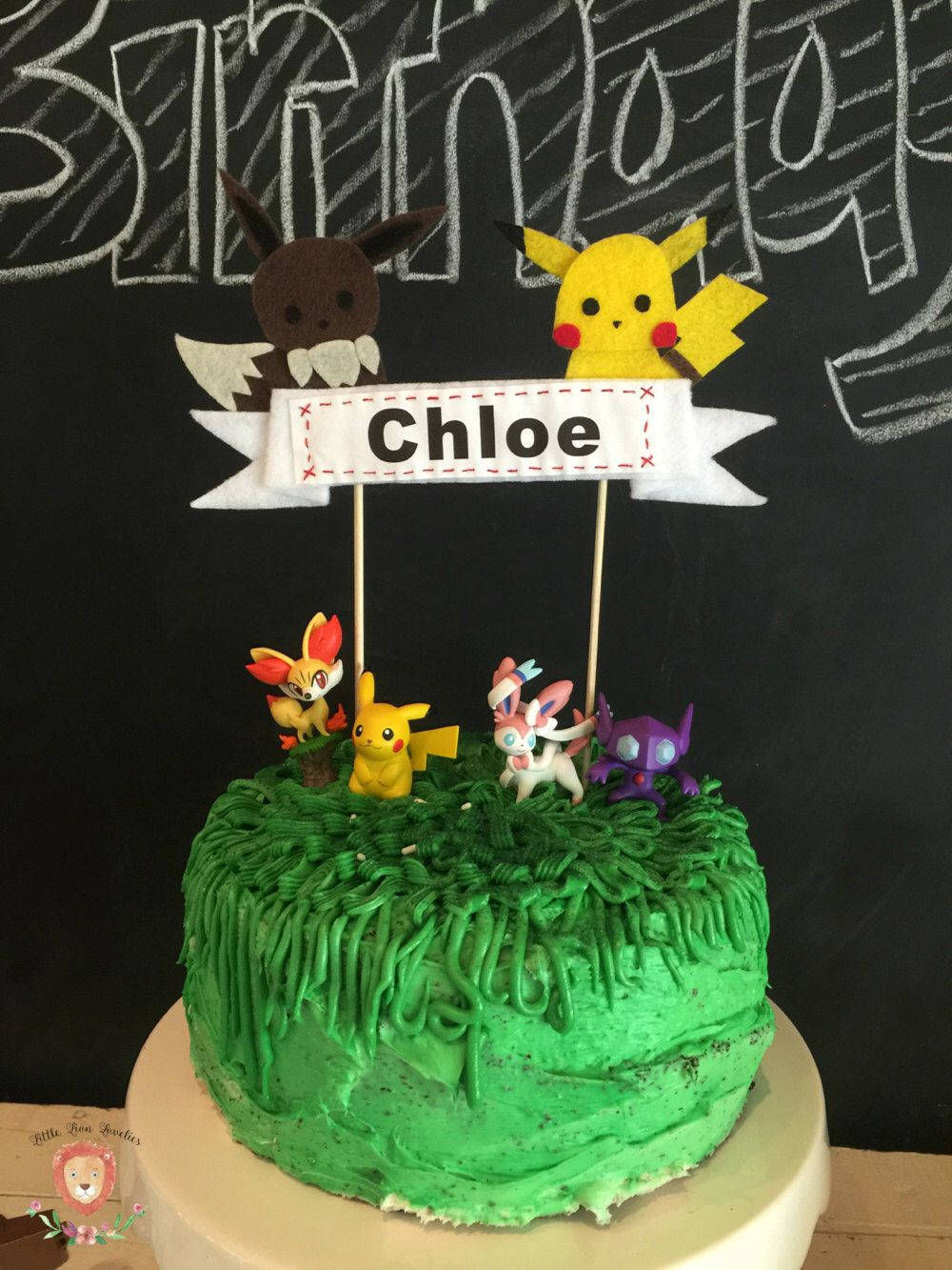 Pokemon Inspired Cake Topper Pikachu and Eevee Cake Topper Pokemon