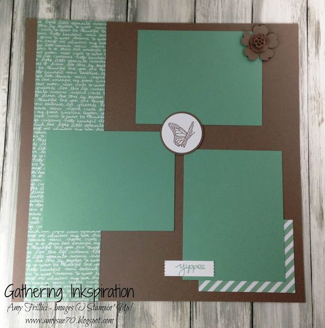 Gathering Inkspiration: Best Thoughts Scrapbook Page