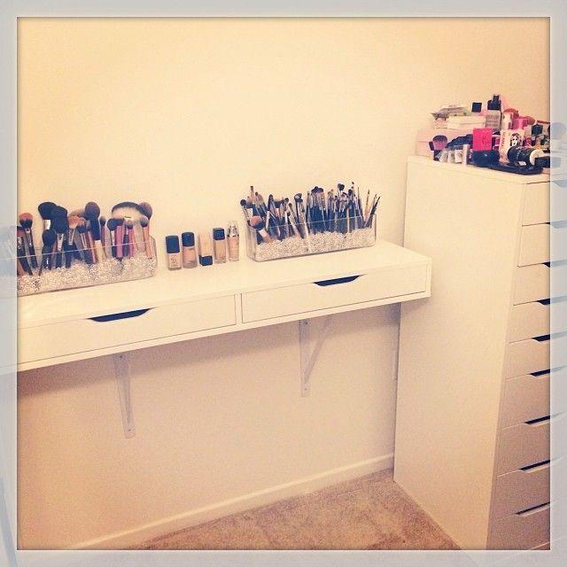 Makeup Room..#Ikea   Rangements maquillage, Idee rangement, Coiffeuse