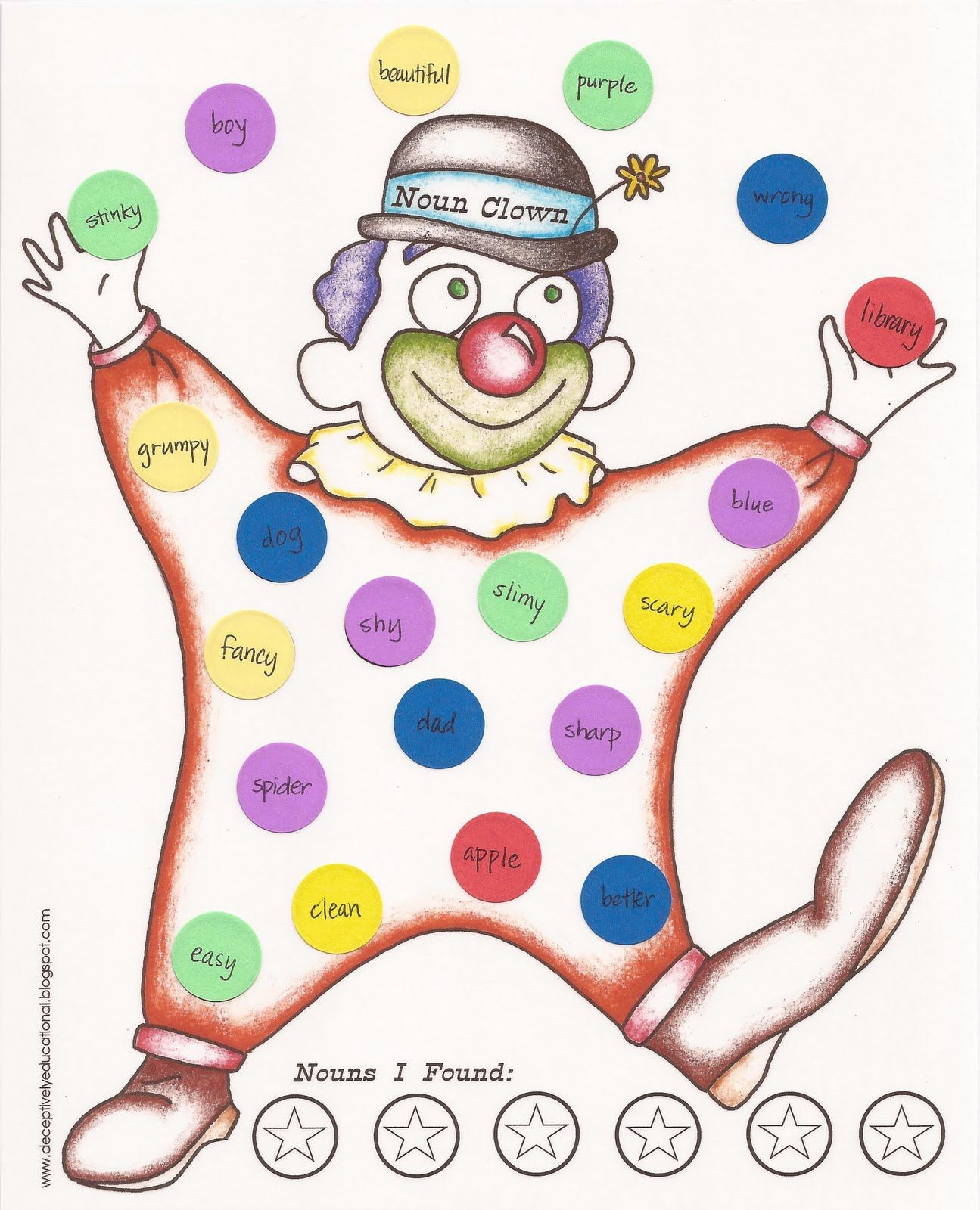 Learning About Nouns With Noun Clown