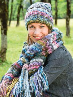 Einfache Strickanleitung für Schal und Mütze #strickenundhäkeln