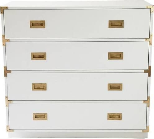 Campaign Style Furniture Campaign Dresser White Chests Drawers