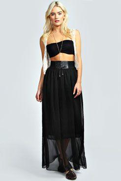 9d2f9289aa4 Mai Chiffon Belted Waistband Maxi Skirt at boohoo.com | Wish List ...