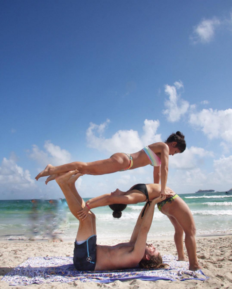 Pin By Skye Seaborn On 3 Person Three Person Yoga Poses Yoga Challenge Poses Acro Yoga Poses